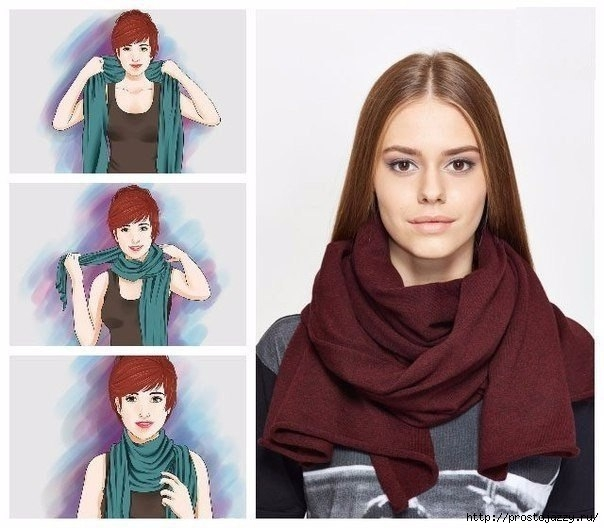 Семь способов носить шарф в холода