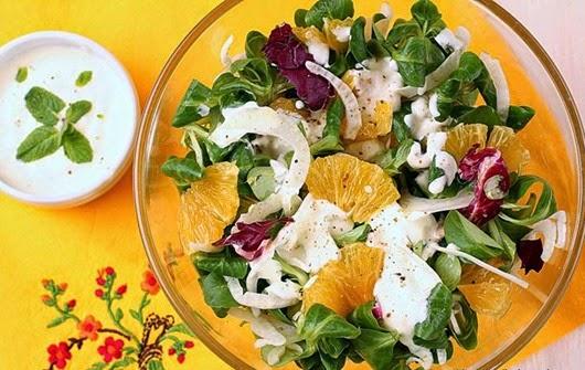 Солнечный салат из фенхеля и апельсинов
