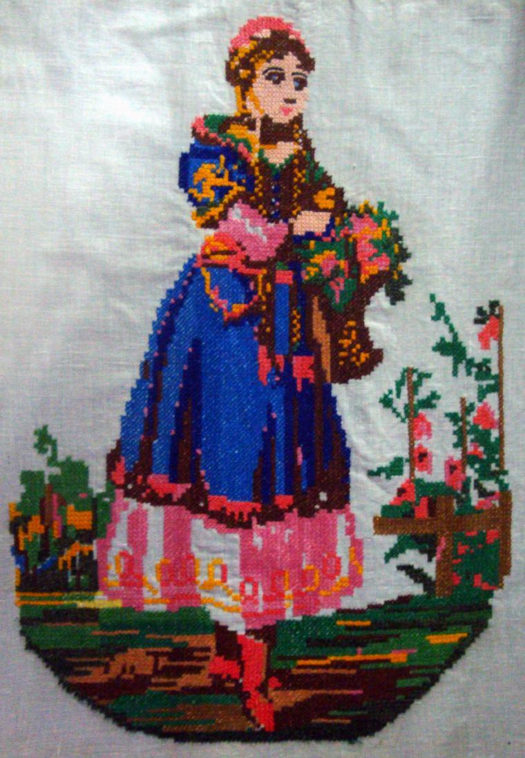 Старинные вышивки крестом из бабушкиного сундука