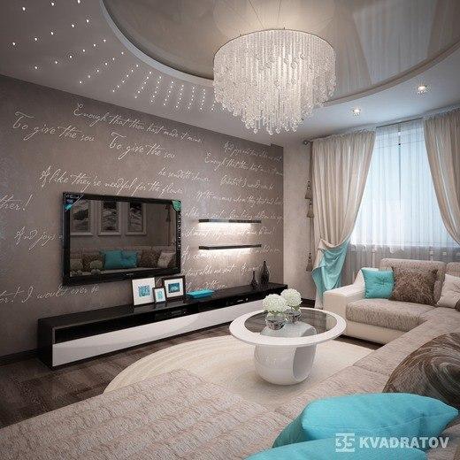 Шикарный дизайн интерьера гостиной