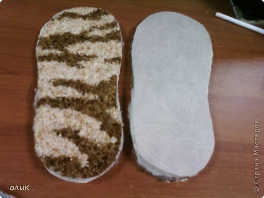 Мастер-класс Шитьё Домашние тапочки для себя и для гостей Кожа Мех Ткань фото 5