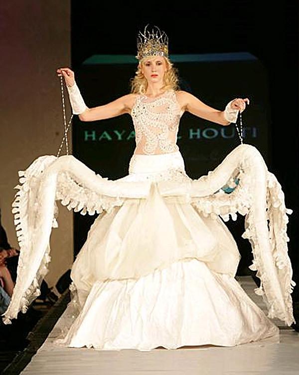 22. Свадебное платье а-ля осьминог Свадебные платья, свадьба
