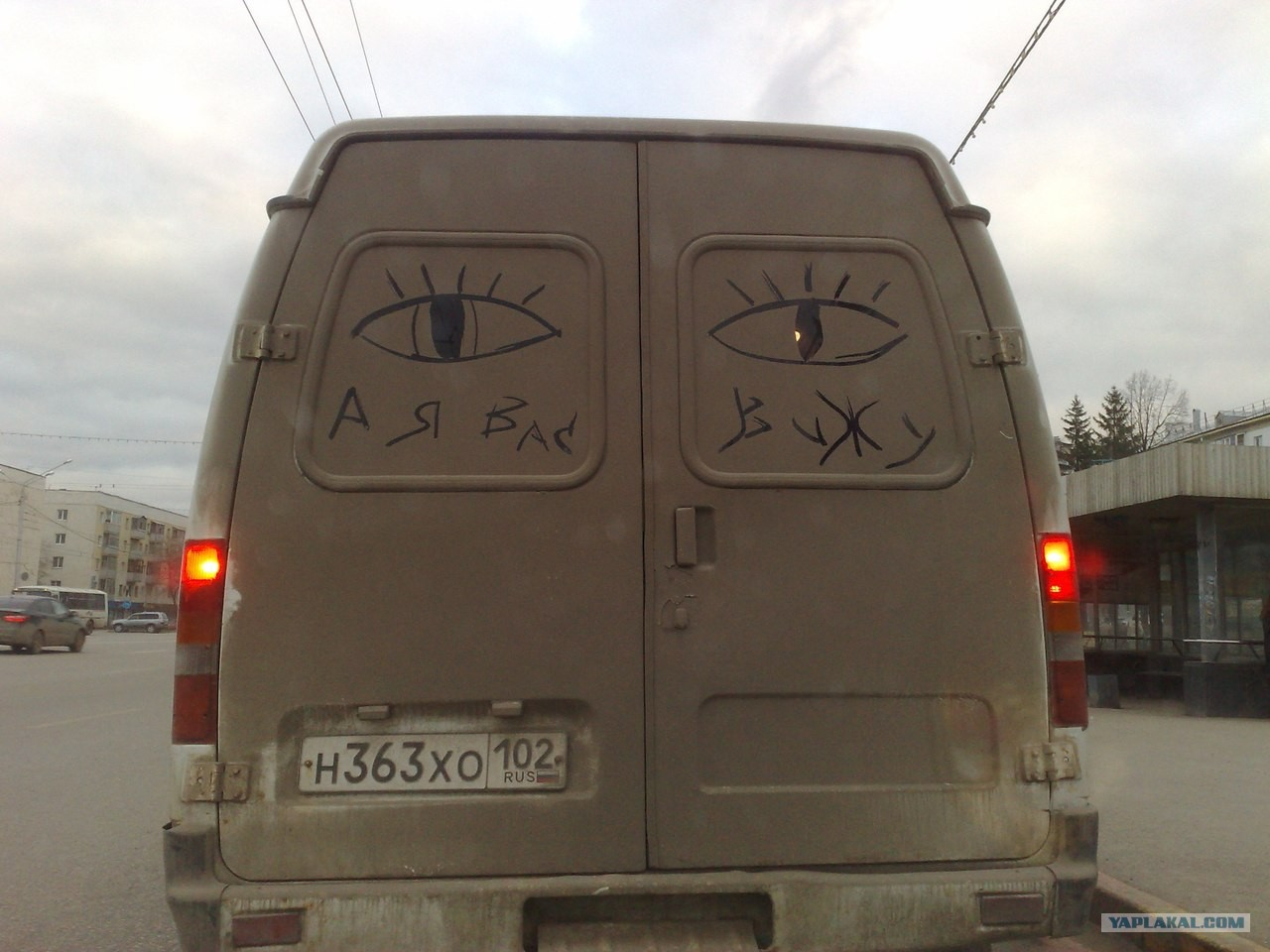 Что обычно водители пишут на своих автомобилях?