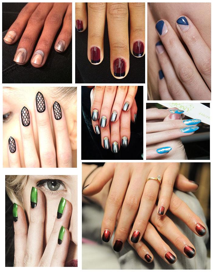 Модные ногти осень
