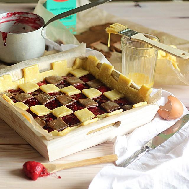 "Пирог ""Шахматная доска"" выпечка, красивая еда, кулинария, пироги"