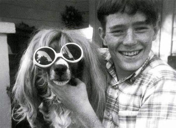 14-летний Брайан Крэнстон со своей собакой Леди, 1970 дети, известность, история, фото