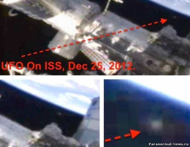 Камера МКС снова засняла НЛО на орбите (видео)
