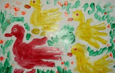 Рисуем пальчиками и ладошками.