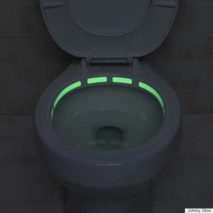 Лента для унитаза с подсветкой (чтоб в темноте находить) ванна, дизайн, креатив