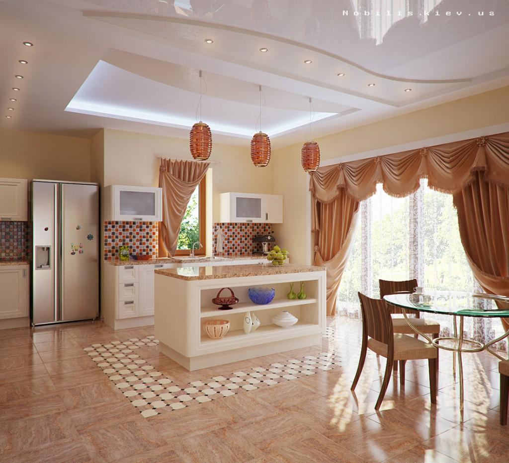 Освещение кухни дома