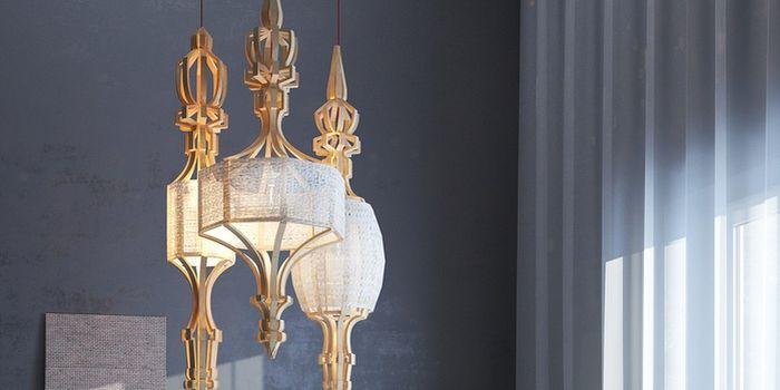 В лучших русских традициях: светильник в форме веретена