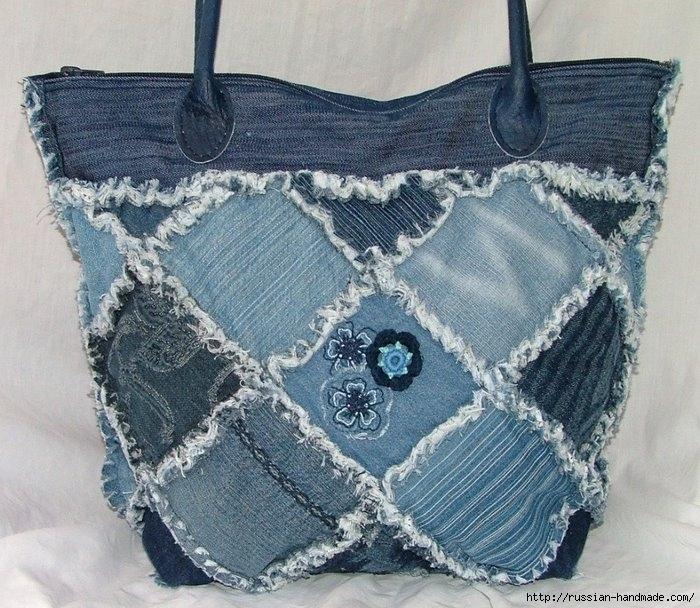 Модные сумки из старых джинсов (16) (700x608, 312Kb)