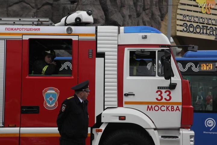 Здание Монетного двора загорелось на юге Москвы