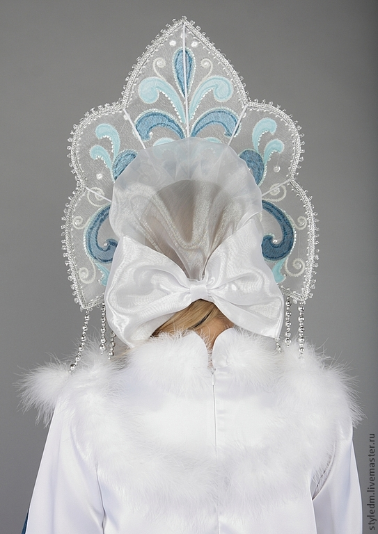 Кокошник Снегурочки своими руками. Море идей декора кокошника!