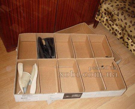 Сделать коробку для обуви своими руками