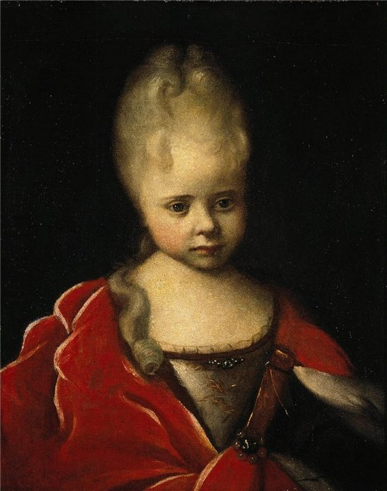 Портрет царевны Елизаветы Петровны в детстве. Иван Никитин.