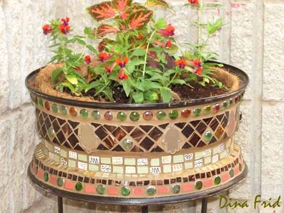 Вазоны для цветов своими руками, для сада