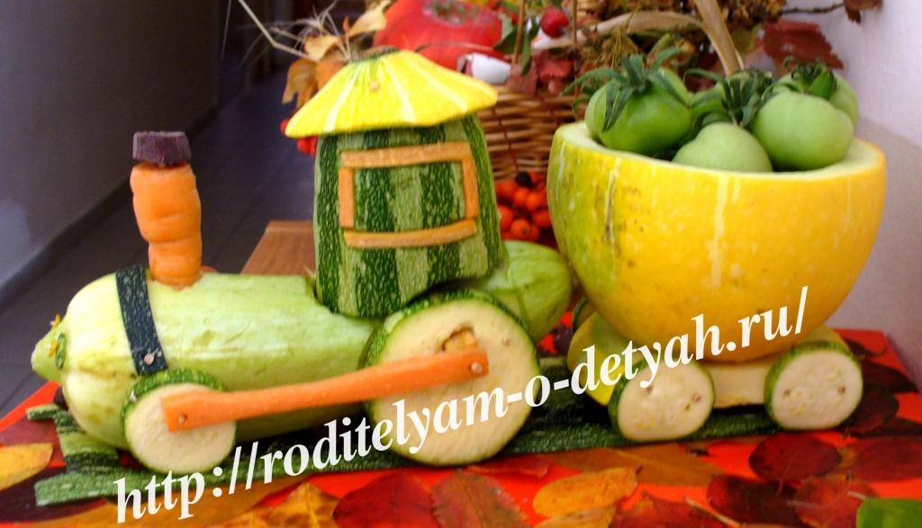 Поделки осени из овощей фото
