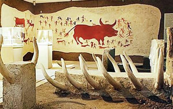 Украшенные бычьими головами стены домов в поселении Чатал-Гуюк. Турция.