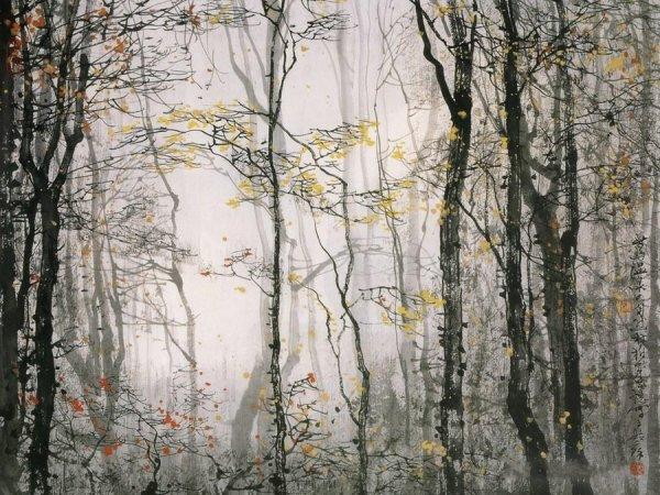 Акварельные пейзажи от китайского художника Liu Maoshan