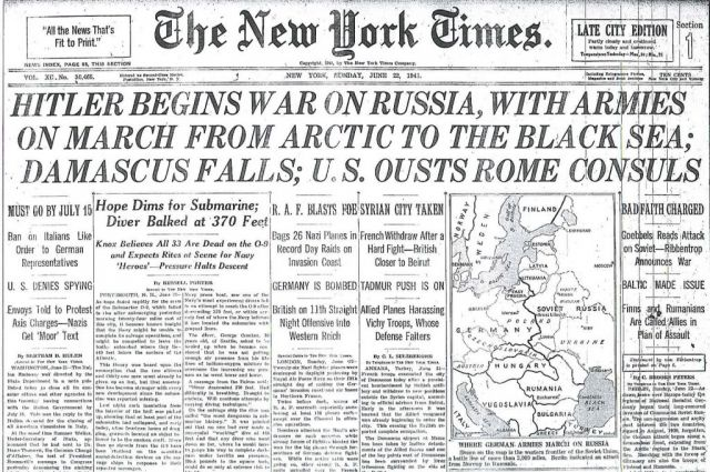«Сколько они продержатся?» О чём писали газеты 22 июня 1941 года?