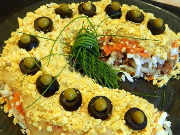 Фото рецепт салата подковы