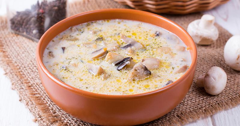Рецепт сырного супа с грибами и мясным фаршем