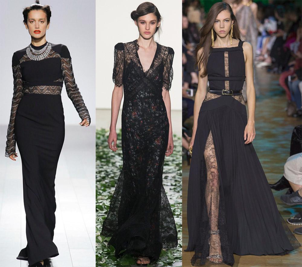 Черные платья 2018