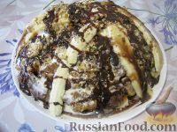 "Фото к рецепту: Торт ""Панчо"" с бананами"