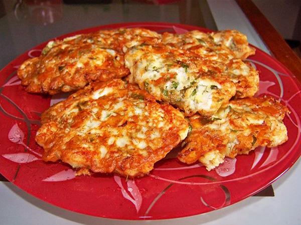 Куриные блинчики с сыром  на кефире