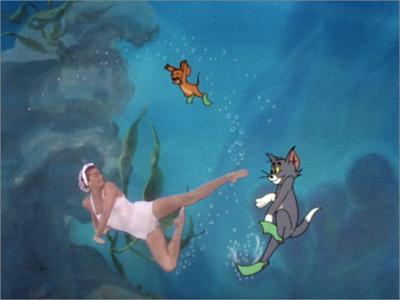 Том и Джерри плавают вместе с Эстер Уильямс.