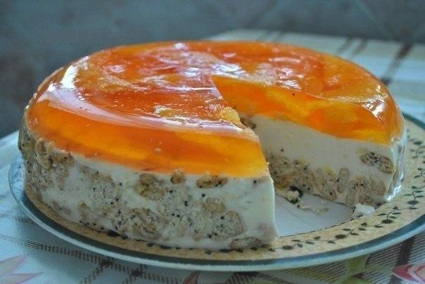 Апельсиновый тортик без выпечки — просто, вкусно и красиво!