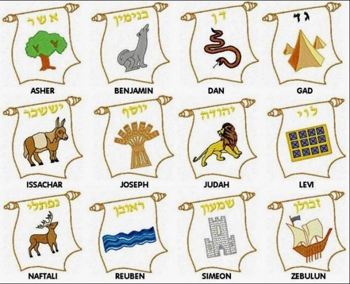 12 колен Израилевых.