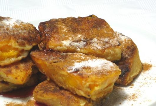 Блюдо из жареной тыквы