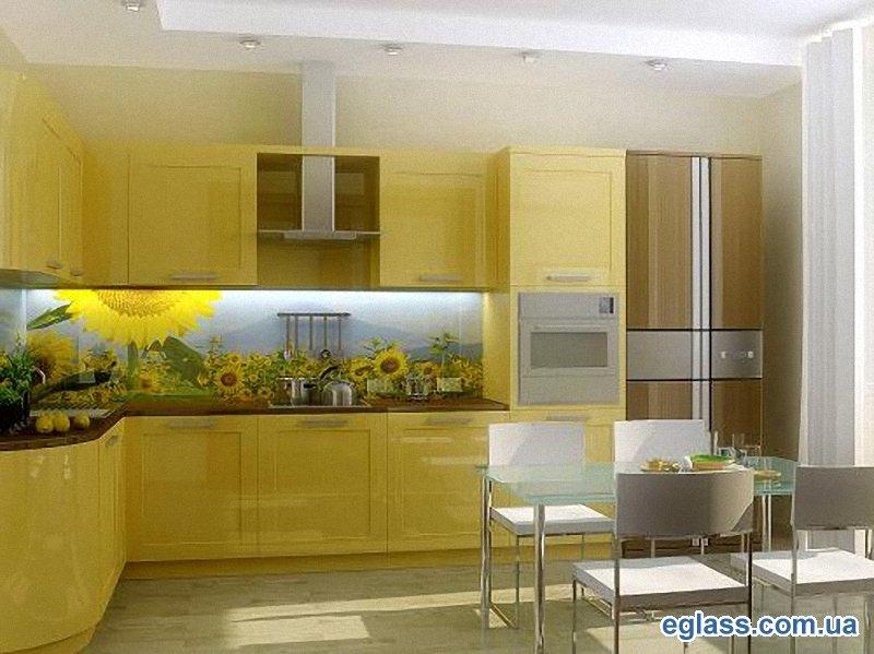 Кухонный фартук стеклянный своими руками