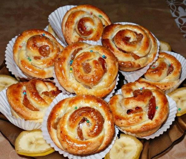 """Творожное-мини булочки с изюмом """"Розочки"""""""