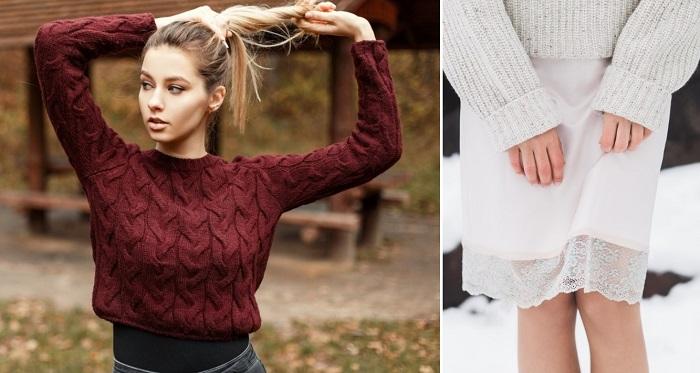 модные свитера из толстой пряжи