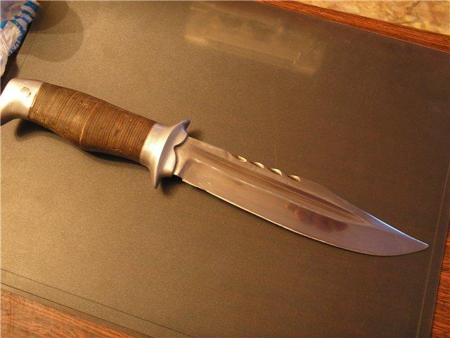 Нож своими руками из клапана