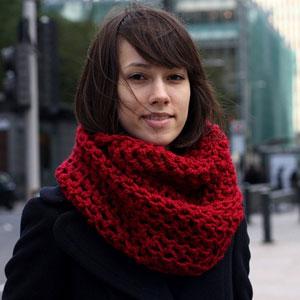 Как сшить шарф снуд? Схема вязания ниже!