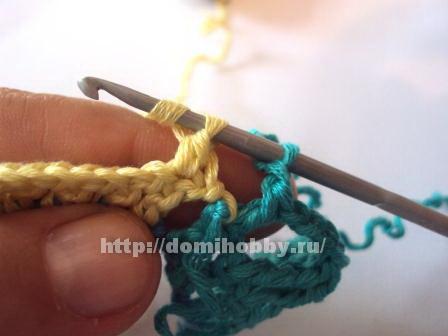 Вязание ажурных узоров в цвете
