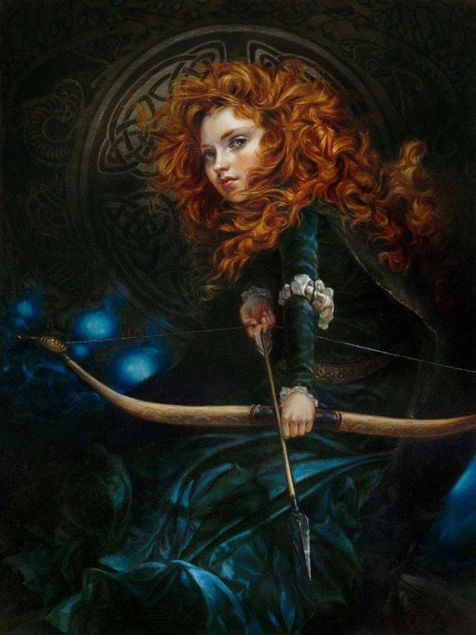 Достойные музея: если бы динсеевские принцессы были персонажами классических картин