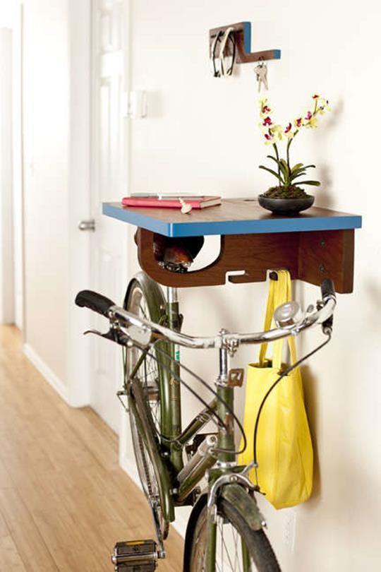Самые креативные способы хранения велосипеда дома
