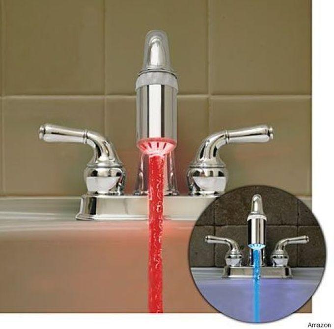 Насадка на кран с подсветкой ванна, дизайн, креатив
