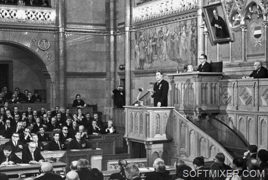 Первый секретарь ЦК КПСС Леонид Брежнев в Венгрии, 1970 год