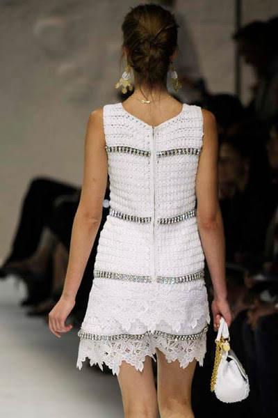 Вязание крючком платье дольче габбана