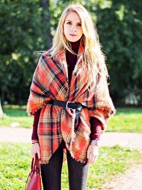 10 способов: Как носить большие шарфы