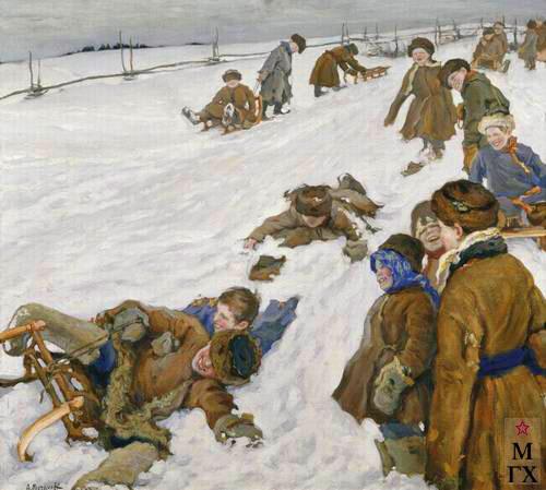 Российское крестьянство в картинах Александра Моравова.