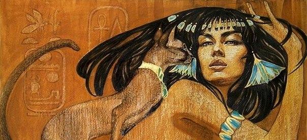 В Древнем Египте женщины пользовались косметикой