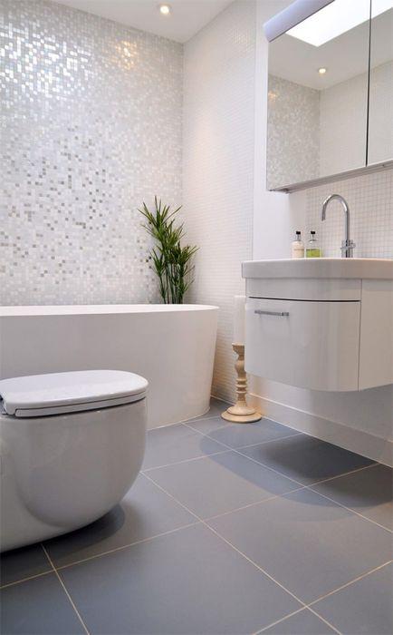 Лаконичный дизайн маленькой ванной