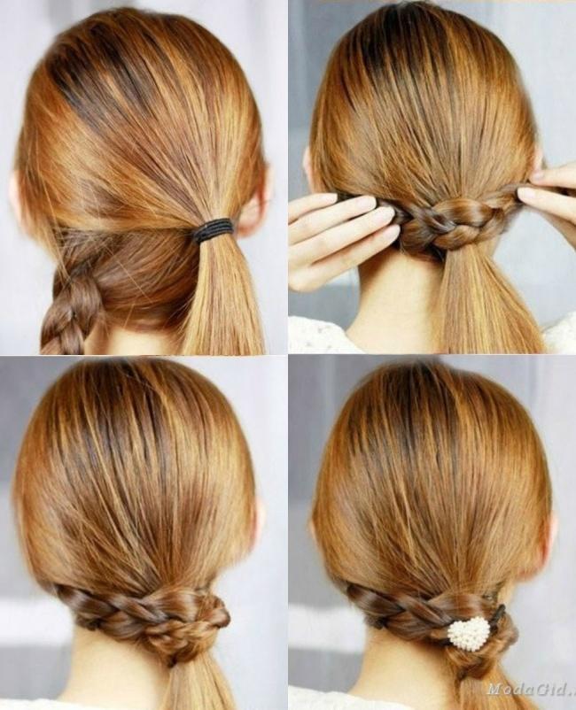 Самые легкие прически на средние волосы за 5 минут